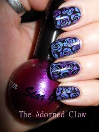 purple and blue rose nail art the adorned claw