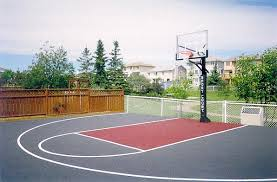 Basketball Court In Backyard Cost by Cost Of Backyard Basketball Court Court Calgary Alberta Canada