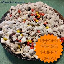 reeses pieces puppy chow recipe a fall treat modern