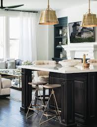 espresso kitchen island espresso stained kitchen island with brass and wood stools