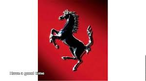 ferrari horse logo symbol of ferrari car youtube