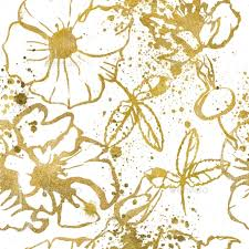gold flowers seamless pattern with gold flowers by cofeee graphicriver