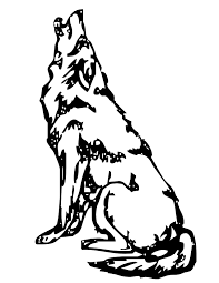 wolf howling at the moon coloring pages howling wolf colouring