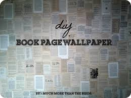 cover a wall in book pages my nerdy heart loves this