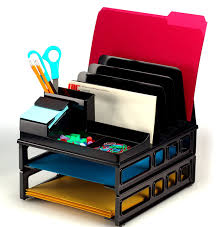 Post It Desk Organizer Officemate Front Load Sorter And Organizer With Two