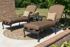 the amalia collection cast aluminum patio furniture chaise lounge