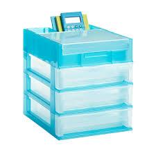 Plastic Desk Organizer 3 Drawer Desktop Organizer The Container Store