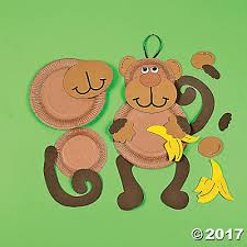 Paper Plate Monkey Craft - paper plate monkey craft kit trading discontinued