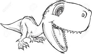 coloring pages cute dinosaur drawing how to draw kawaii chibi