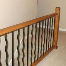 Metal Banister Spindles Iron Stair Balusters Replacing Wooden Stair Balusters Spindles