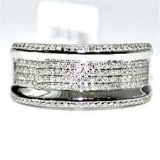 10k white gold wedding band mens diamond wedding band ring 10k white gold 45ct 10mm wide pave