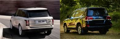 nissan range rover head to head 2016 land rover range rover vs 2016 toyota land