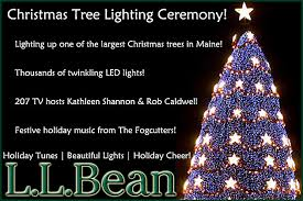 win 100 gift card with l l bean u0027s christmas tree lighting ceremony
