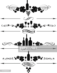 wine ornament vector getty images