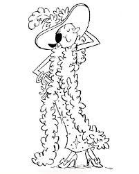 olive fancy dress coloring cartoon pages