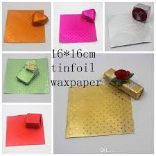 foil gift wrap aluminium wax complex paper chocolate wrapping tin foil baking