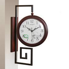 Grande Horloge Murale Carrée En Bois Vintage Achat Grande Horloge Murale à Horloge Murale Vintage En Bois