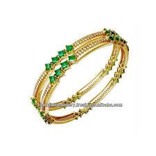 emerald diamond gold bracelet images Square cut emerald diamond gold bangles buy princess cut emerald jpg