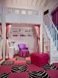 Pink Home Decor Fabric Photos Hgtv Girls Bedroom With Zebra And Pink Pattern Carpet Tiles