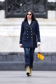 double breasted military coat in paris stella asteria