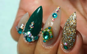 watch me work green u0026 colored acrylic nails on me youtube