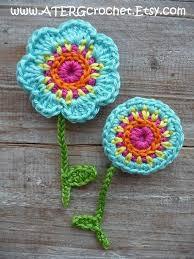 Crochet Designs Flowers 269 Best Crochet Flowers And Hearts Images On Pinterest Knit