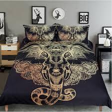 tattoo bedding queen elephant art elephant tattoo bohemian bedding duvet cover set