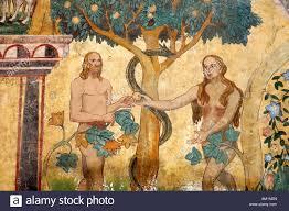 adam and eve in the garden of eden sgraffito outdoor wall