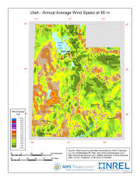 Utah vegetaion images Windexchange utah 80 meter wind resource map jpg