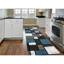 Overstock Com Rugs Runners Blue Gray Polypropylene Contemporary Modern Boxes Area Rug Runner