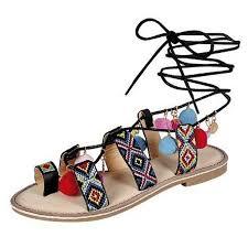 high quality pom pom lace up sandal black admiraltybb co za