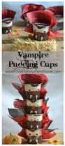 vampire pudding cups quick crafts pudding cups and puddings
