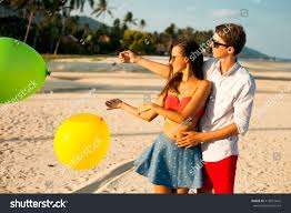 summer concept image crazy hipster couple stock photo 418951642