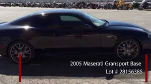 maserati gransport 2015 2005 maserati gransport base youtube