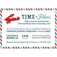 time flies when you u0027re having fun vintage airplane invitation