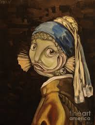 pearl earring painting fish with the pearl earring painting by