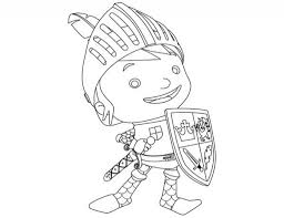 mike the knight coloring pages intended to invigorate in coloring