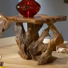 table classy raw wood coffee table constructed of teak root made