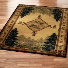 pine cone lodge area rug pine cone pine and rustic area rugs