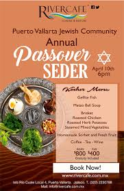 passover seder books the annual passover seder at the river café in vallarta