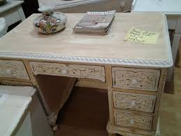 White Distressed Desk by Distressed Apricot Beige And White Desk Or Dressing Table 117 X 70