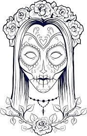 coloring pages for grown ups free printable sugar skull trend to