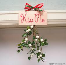 fabulously festive me hanging mistletoe decor
