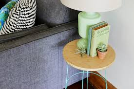 Wire Side Table Diy Tomato Cage Side Table