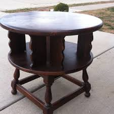 Antique Ethan Allen Bedroom Set Ethan Allen Dark Antiqued Pine Old Tavern Revolving End Table