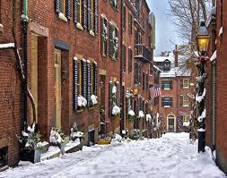 Massachusetts travel list images Christmas on acorn street in boston massachusetts boston jpg
