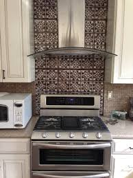 Dramatic Tin Backsplash Contemporary Kitchen Tampa By - Tin ceiling backsplash