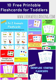 For Toddlers 10 Free Printable Flashcards For Toddlers