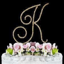 k cake topper renaissance swarovski wedding cake topper gold letter k
