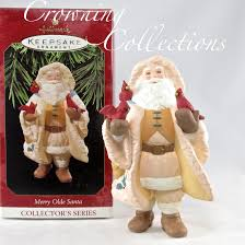 1997 hallmark merry olde santa ornament keepsake santa